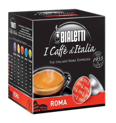 Bialetti 96080092/M Kaffee-Kapseln Roma, Alu, 16 Stück