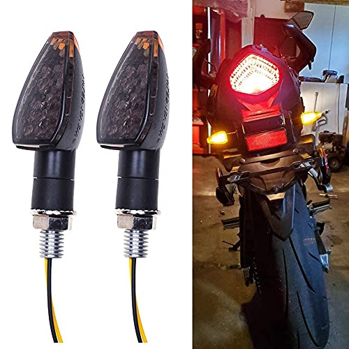 Motorrad Blinker Licht, Motorrad 12V 14 LED Blinkerleuchten, Universal Motorrad LED Blinker Lauflicht, Miniblinker Hochleistungslampe Motorrad Lauflicht Wasserdicht Blinker Motoradblinker