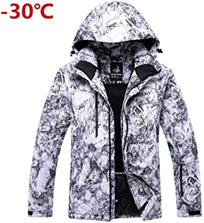 Ocamo Men's Snow Jacket Mountain Waterproof Ski Jacket Snowsuit Outdoor Sports Windproof Warm Rain Jacket