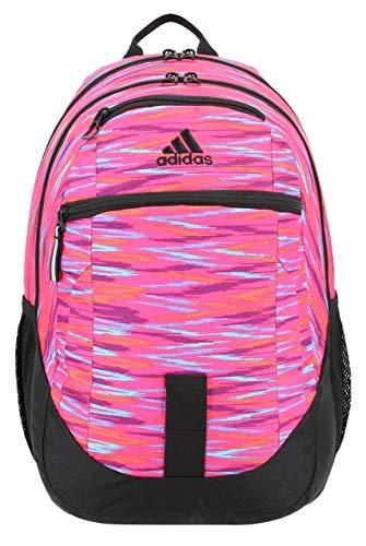 adidas Unisex Foundation Backpack, Twister Shock Pink/Black, ONE SIZE