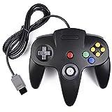 miadore N64 Classic Controller, Retro N64 64-bit Remote Gamepad Joystick for N64 Console Video Game System (Black)
