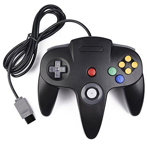 miadore Retro 64-Bit N64 Controller,Kabelgebundener Gamepad Controller Joystick für N64 Konsole N 64 System, Schwarz