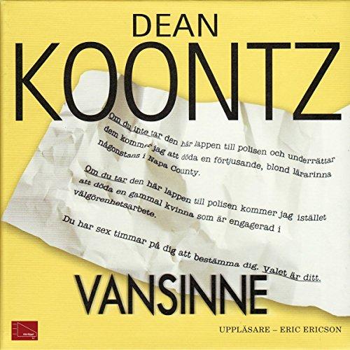Vansinne audiobook cover art