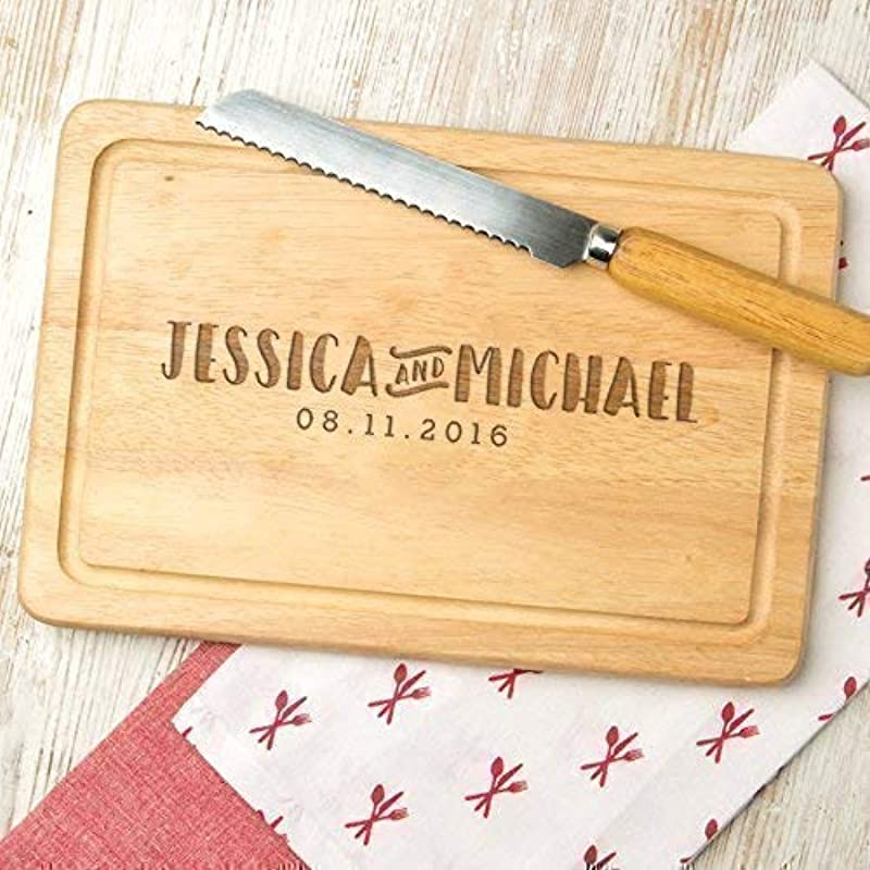 Personalized Wooden Cutting Board Engraved Cute Wedding Gifts For Bride And Groom Personalized Engagement Gifts For Couples Personalized Housewarming Gifts For Couples