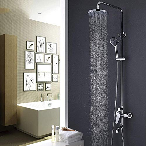 ZUQIEE Bathroom Shower Set Copper Chrome Shower Set Shower Head Shower Head Shower Top Spray Hot And Cold Water Faucet Beautiful practical