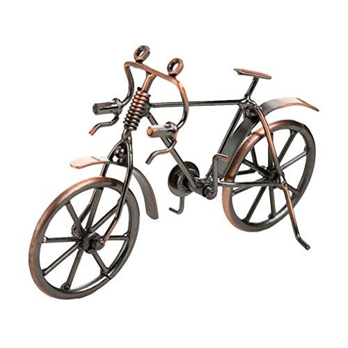 VORCOOL Deko Fahrrad Vintage Eisen Kunst Fahrrad Modell Sammlereisen Skulptur Dekoration (Bronze)