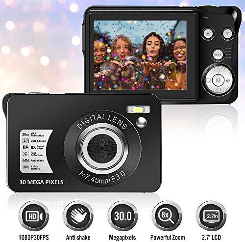 pas cher un bon Appareil photo numérique 30 mégapixels avec zoom 8x et TFT-LCD avec caméscope…