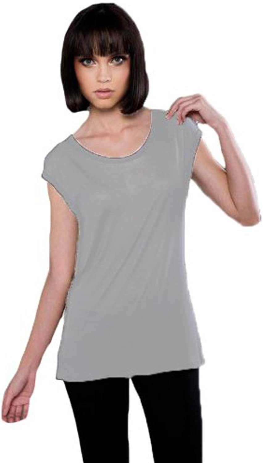 Blanks Women's Fine Jersey Cap Sleeve Cowl Back Tee
