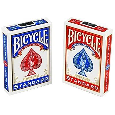 Bicycle Lot de 2jeux de cartes-1rouge et 1bleu