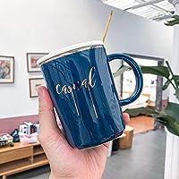 ヨーロピアンスタイルアブストラクトラインコーヒーセラミックカップクリエイティブマグ400MLB