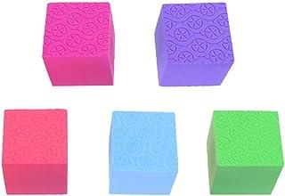 EXCEART 5 Piezas Cubo de Espuma Artesanal Bloque de Espuma de Poliestireno Cuadrado de Espuma de Poliestireno Colorido Bloque de Cubo de Espuma Rompecabezas Rompecabezas para Niños Diy Arte Artesanal