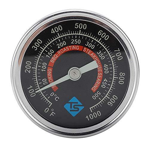 Ryoizen Edelstahl Analog, Edelstahl Thermometer, Edelstahl Thermometer Küche, Barbecue Thermometer BBQ Gasgrill Outdoor Grill Fleisch Raucher BBQ Ofen Thermometer
