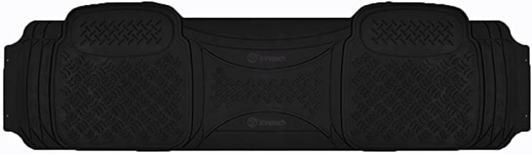 Zone Tech Heavy Duty Solid Black Rubber Automotive Universal 1 Piece Runner Floor Mat