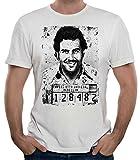 35mm - Camiseta Hombre Pablo Escobar - Narcos - Plata o Plomo - Blanco - Talla s