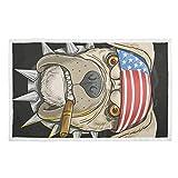 Manta de perro con impresión cálida para cama Pit Bull Perro American Punk Head Mantas