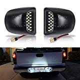 VZ4X4 LED License Plate Light Lamp Assembly Compatible with Chevrolet Silverado 1500 2500 3500 Suburban Tahoe GMC Sierra 1500 2500 3500 Yukon XL Cadillac Escalade