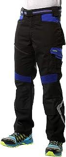 Goodyear Workwear GYPNT010 - Pantalones de trabajo para hombre, con bolsillos y bolsillos, 31/42, negro y azul real, 1