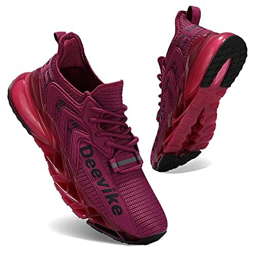Zapatillas Deportivas de Mujer Zapatos Mujer Calzado Deportivo de Exterior de Mujer para Correr Zapatillas Casual Sneakers Rosa Negro-38