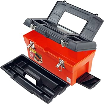 Stalwart - 75-20105A 16  Utility Tool Box with 7 Compartments and Tray