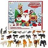 D-FantiX Kids Animals Figures Toys Advent Calendar 2020 Realistic Animal Figurine Toys Christmas...