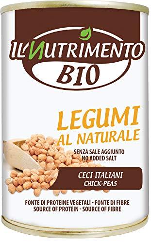 Il Nutrimento Probios Ceci Italiani al Naturale - 12 Confezioni da 400 gr, Totale: 4.8 kg