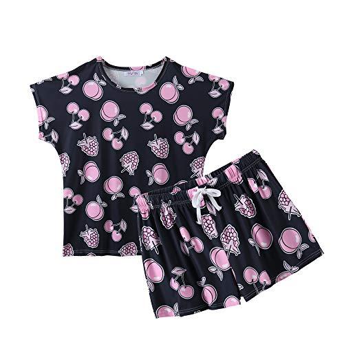 MyFav Women's Summer Casual Sleepwear Fruits Printed Pajamas Loungewear Shorts