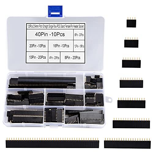 Hembra Cabezal de Conector de Tiras para Arduino Prototype Shield 2.54mm Recta de una Hilera Placa PCB 120 Pedazos