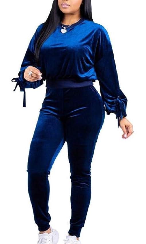 プロフェッショナル信頼性ヒロインレディース2ピースセットカウルネックスウェットシャツとロングパンツトラックスーツ