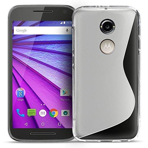 Conie Hülle für Motorola Moto X (2. Generation) Hülle, [S Line Series] Soft Flex TPU Hülle Superdünn handyhüllen PC Bumper Schutzhülle, für Motorola Moto X (2. Generation) (5.2