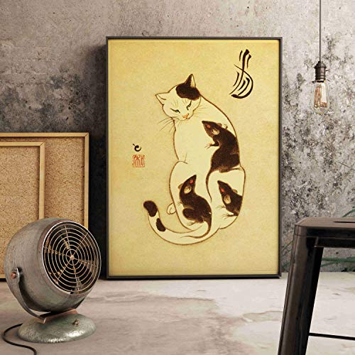 Jigsaw puzzle 1000 piece Japanese style floating decoration samurai cat vintage style jigsaw puzzle 1000 piece scotland Educational Intellectual Decompressing Toy Puzzles Fun Famil50x75cm(20x30inch)