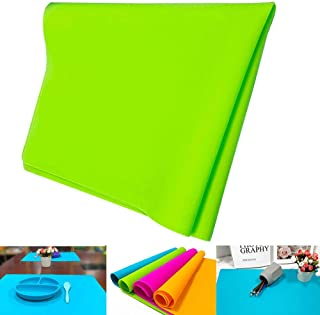 Silicone Sheet for Crafts, Womdee 20''x16'' Extra Large Silicone Placemat Jewelry Casting Molds Mat Silicone Nonstick Clay Mat Heat Resistant Nonskid Counter Mat Food Grade Dining Table Mat Baking Mat