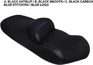 SYM Maxsym 400i/600i seat Cover Black-Black Carbon-Blue Stitching