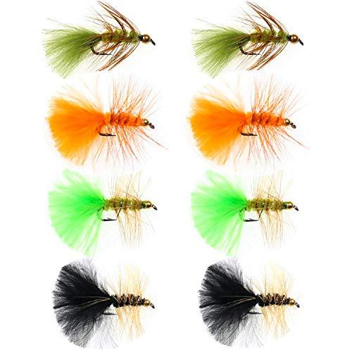 ZZWIF Hand-Tied Woolly Bugger Streamer Fly Fishing Flies Bead Head...