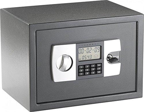 Xcase Safe: Stahlsafe mit digitalem Code-Schloss und LCD-Display, 16 Liter (Wandsafe)