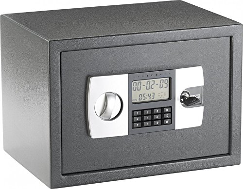 Xcase Safe: Stahlsafe mit digitalem Code-Schloss und LCD-Display (Wandtresor)
