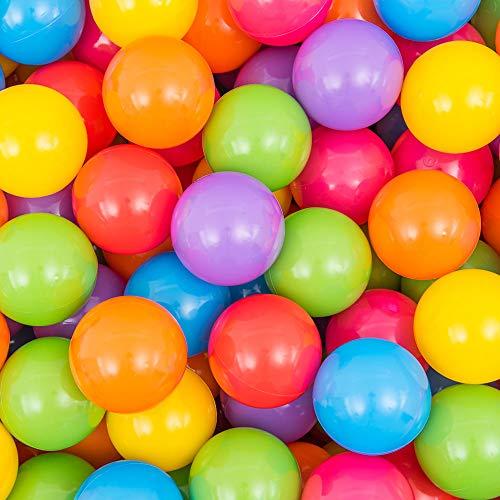 coccoroカラーボール100個入り7色直径6cm収納バッグ付きポリエチレン製おもちゃ(ボールプール/キッズハウス用)
