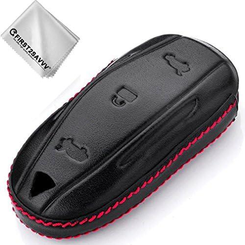 First2savvv Leder Auto Fernbedienung Schlüssel Hülle Elektronik