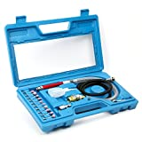Yaetek 17 Pcs 1/8' Air Micro Die Grinder Kit Mini Pencil Polishing Rotary Cutting Tool with Carry Case 54,000 RPM 90psi 3MM