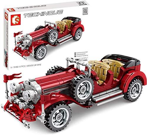ZZT Technique Oldtimer Cars Building Blocks Kit, 617 Partes de Juguetes de construcción compatibles con la técnica Lego