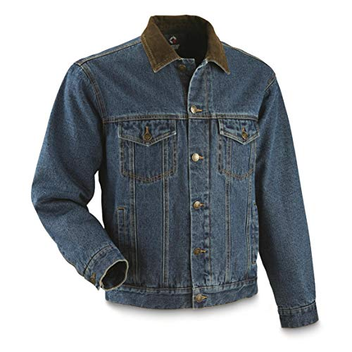 Guide Gear Men's Quilt Lined Denim Jacket, Stonewash, XL