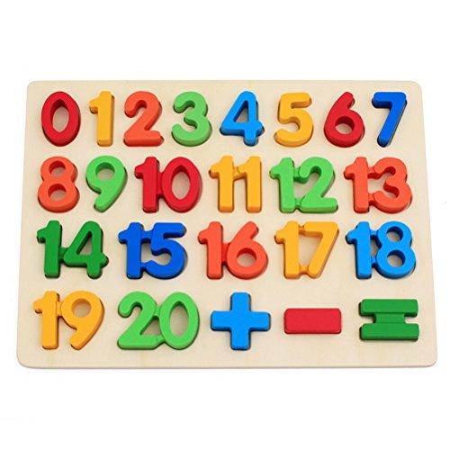TOYMYTOY Puzzle Números Puzzle de Madera Juguete de Educativo Aprendizaje para niños