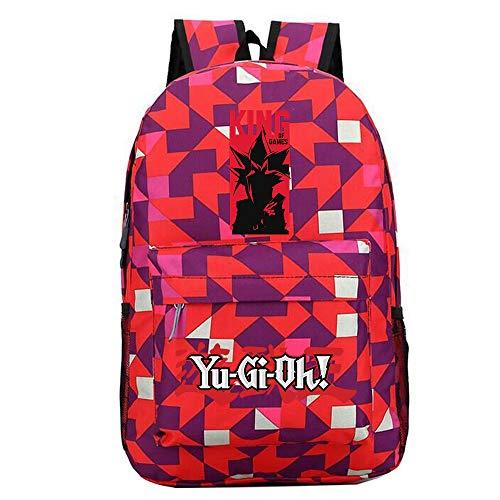 Yu-Gi-Oh Mochila Impresa Mochila Escolar Mochila Deportiva Mochila Escolar Mochila de Lona Bolsa de Viaje Unisex (Color : Red10, Size : 30 X 13 X 43cm)