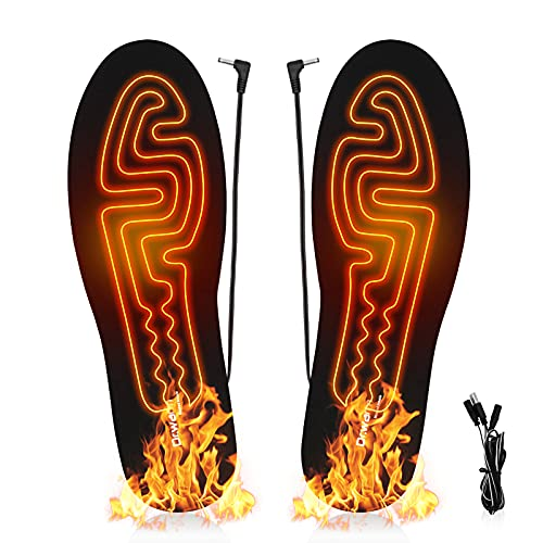 Dr.Warm Heating Insoles USB Electric Power Thermal Soles for Men and Women Winter Hunting Boots Shoes Sneaker Ice Fishing Hiking Camping