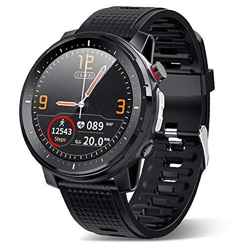 DOUBEI New Hombres Smart Watch, IP68 Monitoreo de sueño a Prueba de Agua Pulsera de la Aptitud Deportiva, LED Luz al Aire Libre Dial Personalizado,Negro