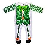 Traditional Craft Weiß/Grün Irland Kobold Skizze Baby Strampler Onesie | Comfortebel Baumwolle Strampler Romper Bodusuit Body für Babys Mädchen Jungen (0/6 Monate)