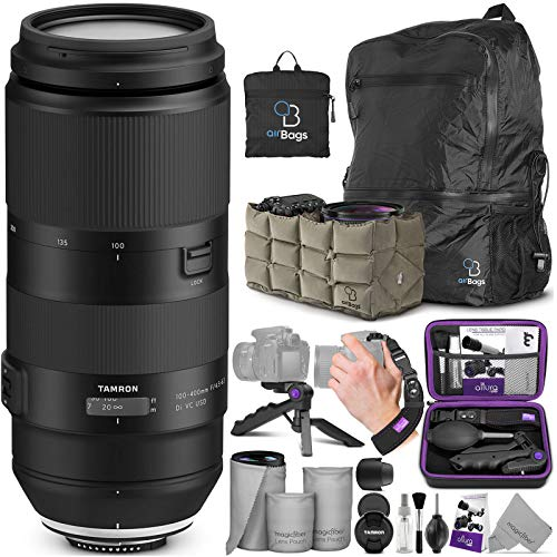 Tamron 100-400mm f/4.5-6.3 Di VC USD Lens for Nikon F with Altura Photo Essential Accessory and Travel Bundle