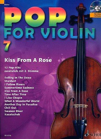 Pop voor viool band 7 incl. CD - 12 leuke songs van Adele, Lana Del Rey, Phil Collins onder andere voor 1-2 vizieren (noten)