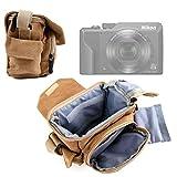 DURAGADGET Bolso Marrón/Canvas para Cámara Nikon Coolpix A1000