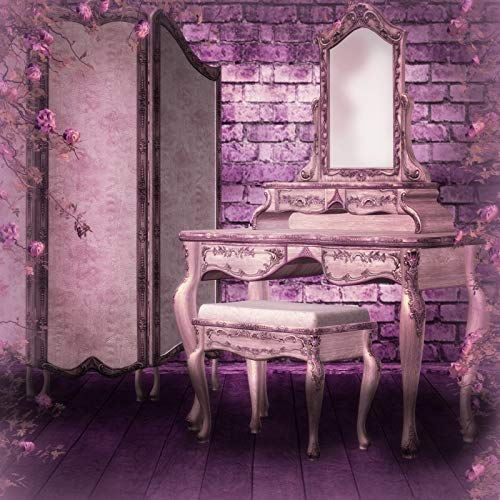 Leyiyi 6x6ft Photography Backdrop Vintage Castle Background Kids Happy Birthday Fairy Tale Building Gothic Room Inside Make Up Table Screen Dreamlike Wedding Flora Photo Portrait Vinyl Studio Prop