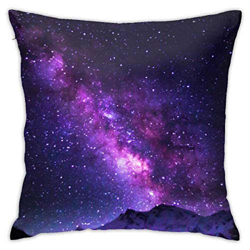 Funda de almohada CVDGSAD con diseño de galaxia brillante de 45,7 x 45,7 cm, se puede lavar a máquina